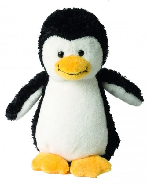 Plüsch Pinguin Phillip - schwarz/weiß (Größe: ca. 16 cm) - optional mit Siebdrucktransfer, Direkttra