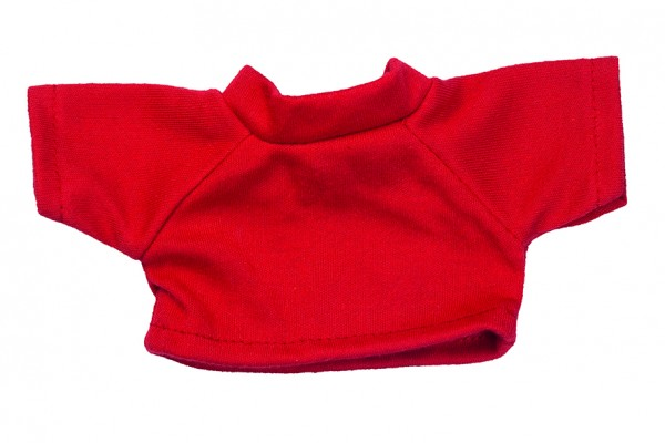 Mini-T-Shirt Gr. S - rot (Größe: passend für Plüschtiere) - optional mit Siebdrucktransfer