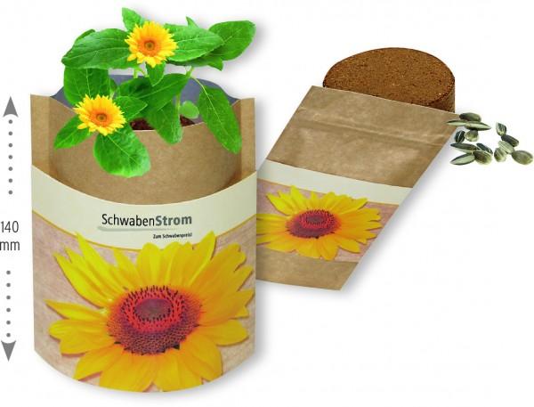Natur Bag Sonne, Zwergsonnenblume, 1-4 c Digitaldruck inklusive