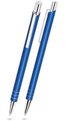LARA Blau matter Metallkugelschreiber