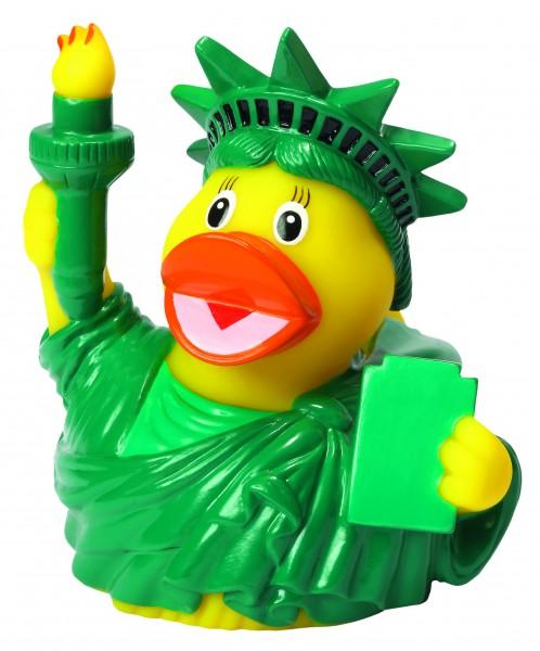 Quietsche-Ente CityDuck® New York - bunt (Größe: ca. 8 cm) - optional mit Tampondruck