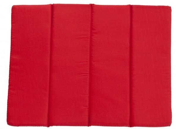 Sitzkissen faltbar - rot - optional mit Siebdrucktransfer