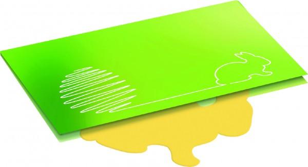 Hasen-Karte, Gras, 1-4 c Digitaldruck inklusive