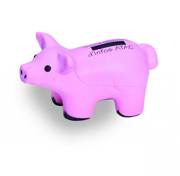 SQUEEZIES® Schwein - rosa (Größe: ca. 11,5 cm) - optional mit Tampondruck