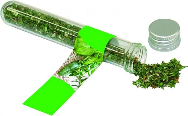 Reagenzglas BIO-Kräuter der Provence, 1-4 c Digitaldruck inklusive