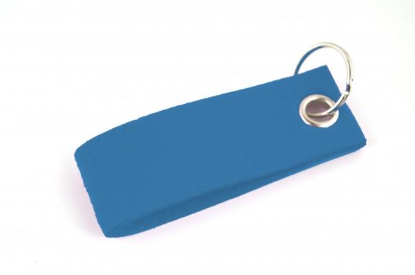 Schlüsselanhänger aus Filz in Blau - Schlaufe ca. 30x90mm - made in Germany