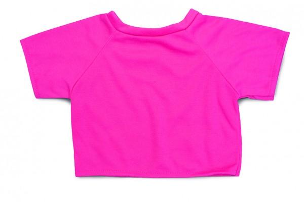 Mini-T-Shirt Gr. XL - pink (Größe: passend für Plüschtiere) - optional mit Siebdrucktransfer