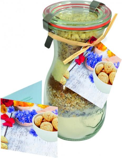 Cookie-Backmischung Blütenzauber, 1-4 c Digitaldruck inklusive