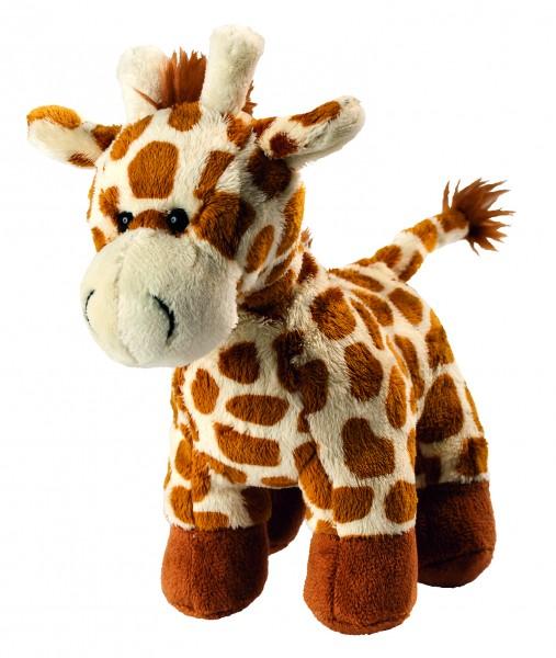 Plüsch Giraffe Carla - hellbraun (Größe: ca. 20 cm) - optional mit Siebdrucktransfer, Direkttransfer