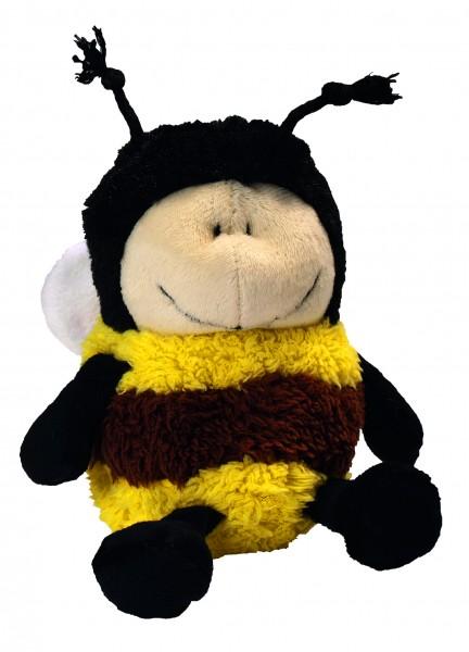 Plüsch Biene Emma - schwarz/gelb (Größe: ca. 15 cm) - optional mit Siebdrucktransfer, Direkttransfer