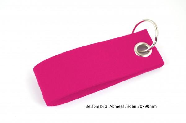 Schlüsselanhänger aus Filz in Pink - Schlaufe ca. 120x30mm - made in Germany