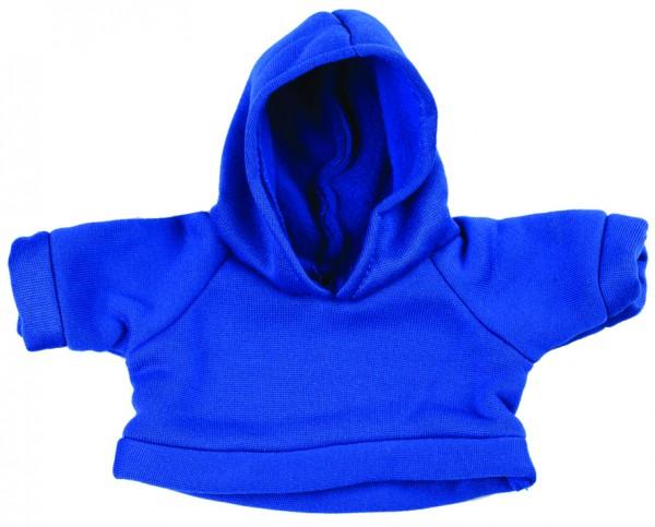 Sweat-Shirt mit Kapuze Gr. M - blau (Größe: passend für Plüschtiere) - optional mit Siebdrucktransfe