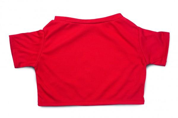 Mini-T-Shirt Gr. XXL - rot (Größe: passend für Plüschtiere) - optional mit Siebdrucktransfer