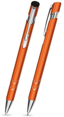 Ein STAR in Orange - hochwertiger Metallkugelschreiber, mit gratis Laser-Gravur