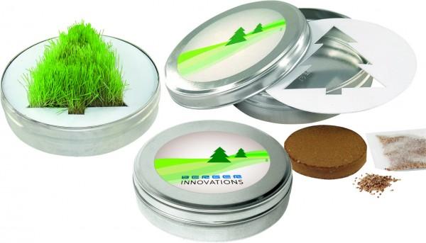 Wachsender Tannenbaum, Gras, 1-4 c Digitaldruck inklusive