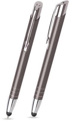 Anthrazit glänzender MOOI TOUCH-PEN -Metallkugelschreiber inkl. gratis Laser-Gravur mit Namen, Text