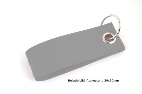 Schlüsselanhänger aus Filz in Grau - Schlaufe ca. 70x25mm - made in Germany