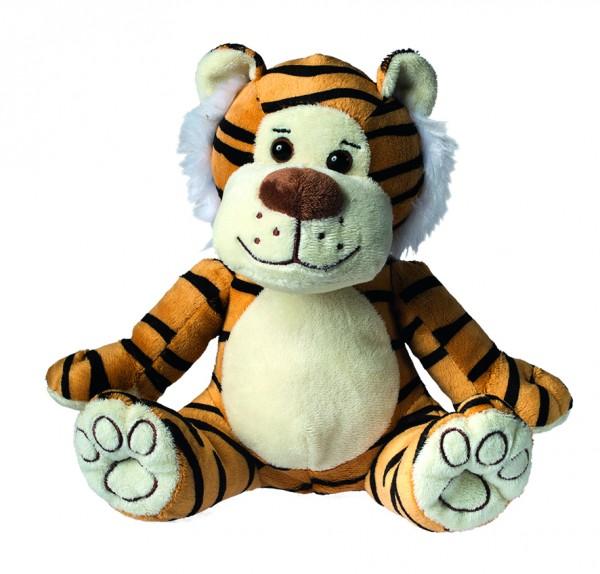 Plüsch Tiger Lucy - hellbraun (Größe: ca. 20 cm) - optional mit Siebdrucktransfer, Direkttransfer