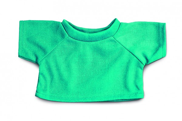 Mini-T-Shirt Gr. L - türkis (Größe: passend für Plüschtiere) - optional mit Siebdrucktransfer