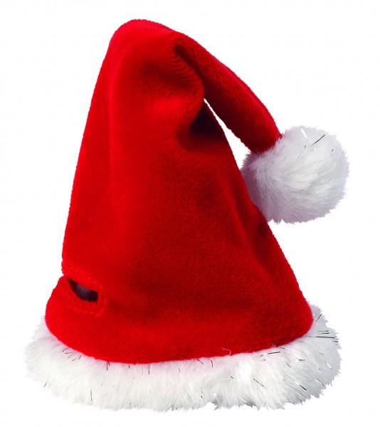 Weihnachtsmütze für Plüschtiere Gr. M - rot/weiß (Größe: passend für Plüschtiere)