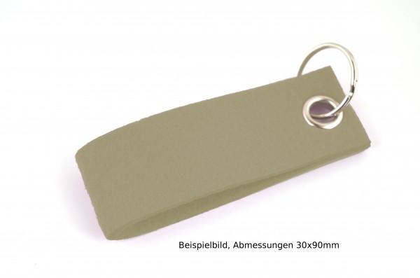 Schlüsselanhänger aus Filz in Oliv - Schlaufe ca. 70x25mm - made in Germany