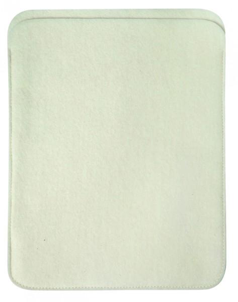 Polyesterfilz Tablet PC-Tasche (Filzstärke: ca. 2,5 mm) - weiß - optional mit Siebdrucktransfer