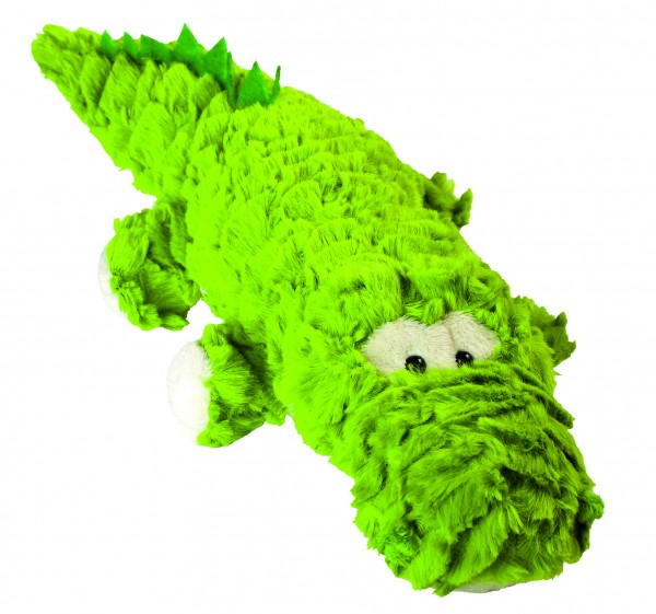 Plüsch Krokodil Lasse - grün (Größe: ca. 6 cm) - optional mit Siebdrucktransfer, Direkttransfer