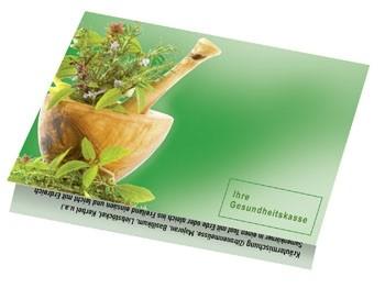 Klappkärtchen Kräuter, 90 x 60 mm, Kräutermischung, 1-4 c Digitaldruck inklusive