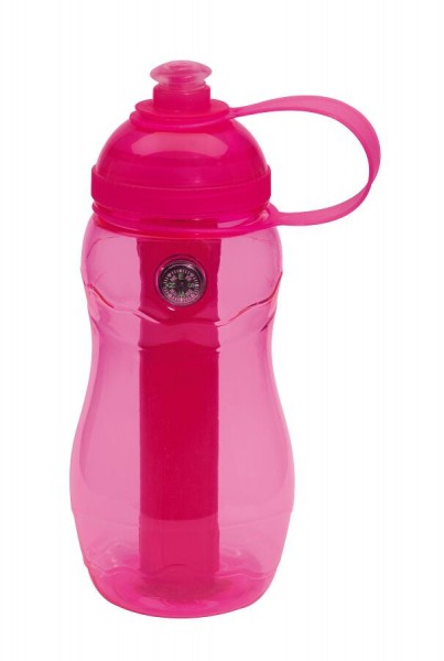 Trinkflasche ON TRACK in pink