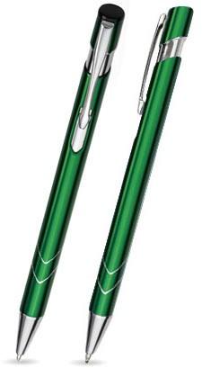 Ein STAR in Grün - hochwertiger Metallkugelschreiber, mit gratis Laser-Gravur