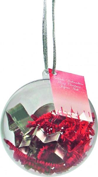 Weihnachtskugel Backförmchen, 1-4 c Digitaldruck inklusive