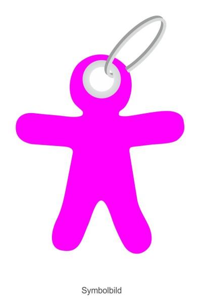 Filz Schlüsselanhänger - Figur - Männchen - optional mit Aufdruck / Schlüsselring / Werbekarte