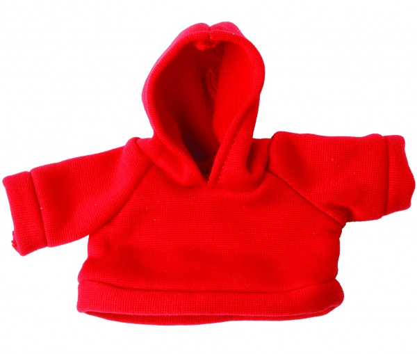 Sweat-Shirt mit Kapuze Gr. M - rot (Größe: passend für Plüschtiere) - optional mit Siebdrucktransfer