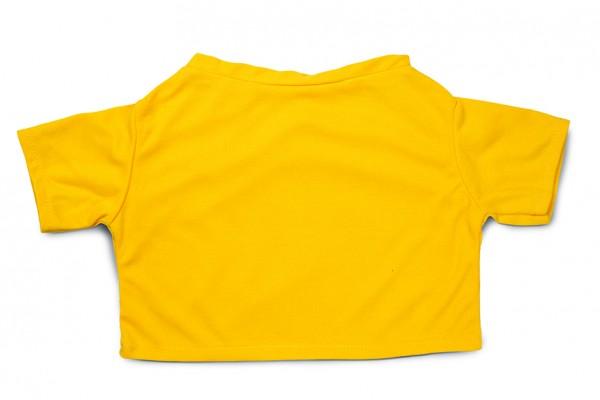 Mini-T-Shirt Gr. XXL - gelb (Größe: passend für Plüschtiere) - optional mit Siebdrucktransfer