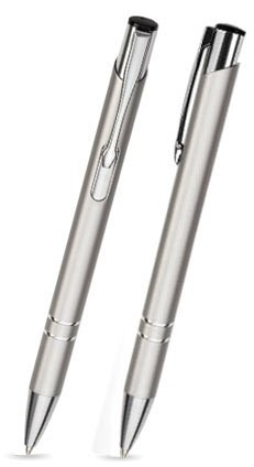 LIBO Silberner Metallkugelschreiber