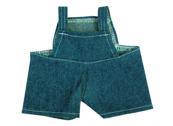 Jeans-Latzhose für Plüschtiere Gr. S - dunkelblau (Größe: passend für Plüschtiere) - optional mit Si