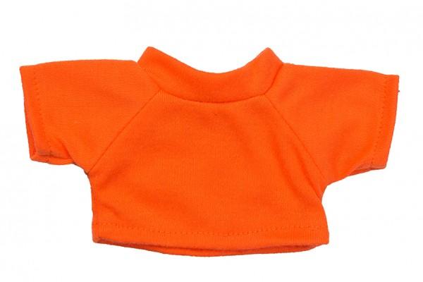Mini-T-Shirt Gr. S - orange (Größe: passend für Plüschtiere) - optional mit Siebdrucktransfer