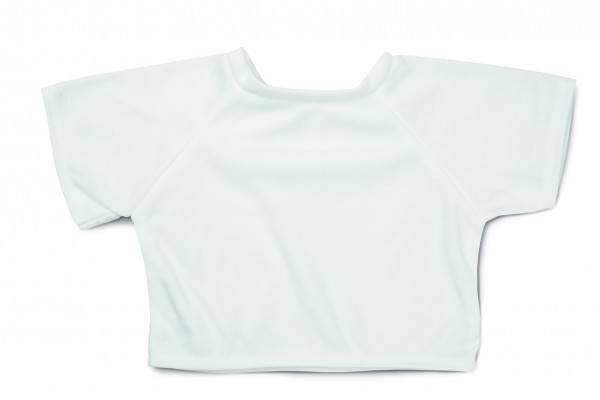 Mini-T-Shirt Gr. XL - weiß (Größe: passend für Plüschtiere) - optional mit Siebdrucktransfer, Direkt