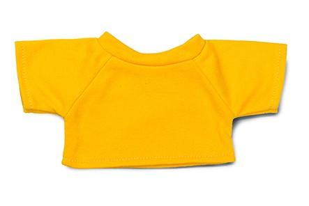 Mini-T-Shirt Gr. M - gelb (Größe: passend für Plüschtiere) - optional mit Siebdrucktransfer