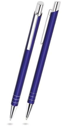 LARA Navy-Blau glänzender Metallkugelschreiber