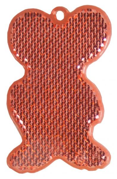 Fußgängerreflektor Maus - rot (Größe: ca. 6,5 cm) - optional mit Tampon-/Siebdruck
