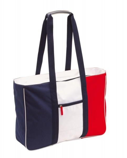 Strandtasche MARINA in blau, rot, weiß