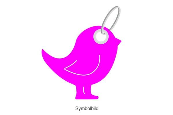Filz Schlüsselanhänger - Singing Bird - Vogel - optional mit Schlüsselring / Werbekarte