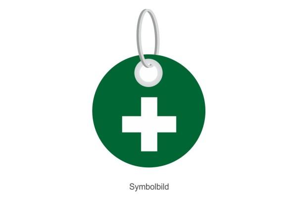 Filz Schlüsselanhänger - Scheibe - Schweiz - optional mit Schlüsselring / Werbekarte