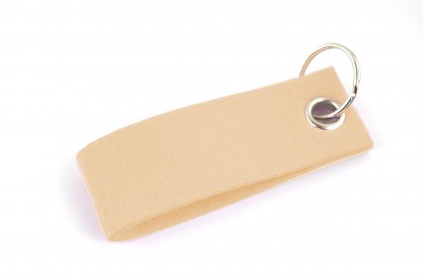 Schlüsselanhänger aus Filz in Haut - Schlaufe ca. 30x90mm - made in Germany