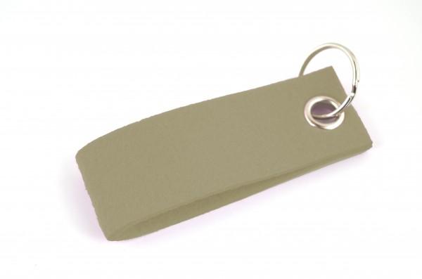 Schlüsselanhänger aus Filz in Oliv - Schlaufe ca. 30x90mm - made in Germany