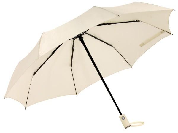 Vollautomatischer Windproof-Taschenschirm ORIANA in hellbeige