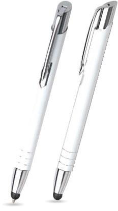 LEILA TOUCH Weiß matter Metallkugelschreiber
