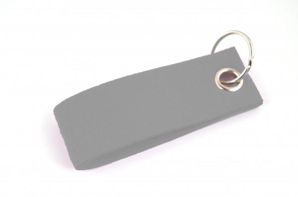 Schlüsselanhänger aus Filz in Grau - Schlaufe ca. 30x90mm - made in Germany