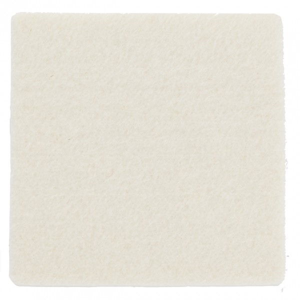 Polyesterfilz Untersetzer Quadrat (Filzstärke: ca. 5 mm) - wollweiß - optional mit Siebdrucktransfe